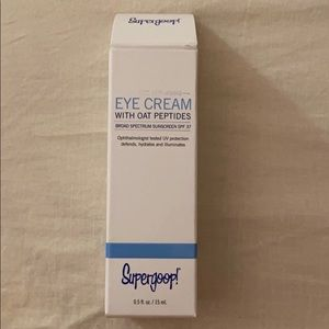 Supergoop eye cream with oat peptides.